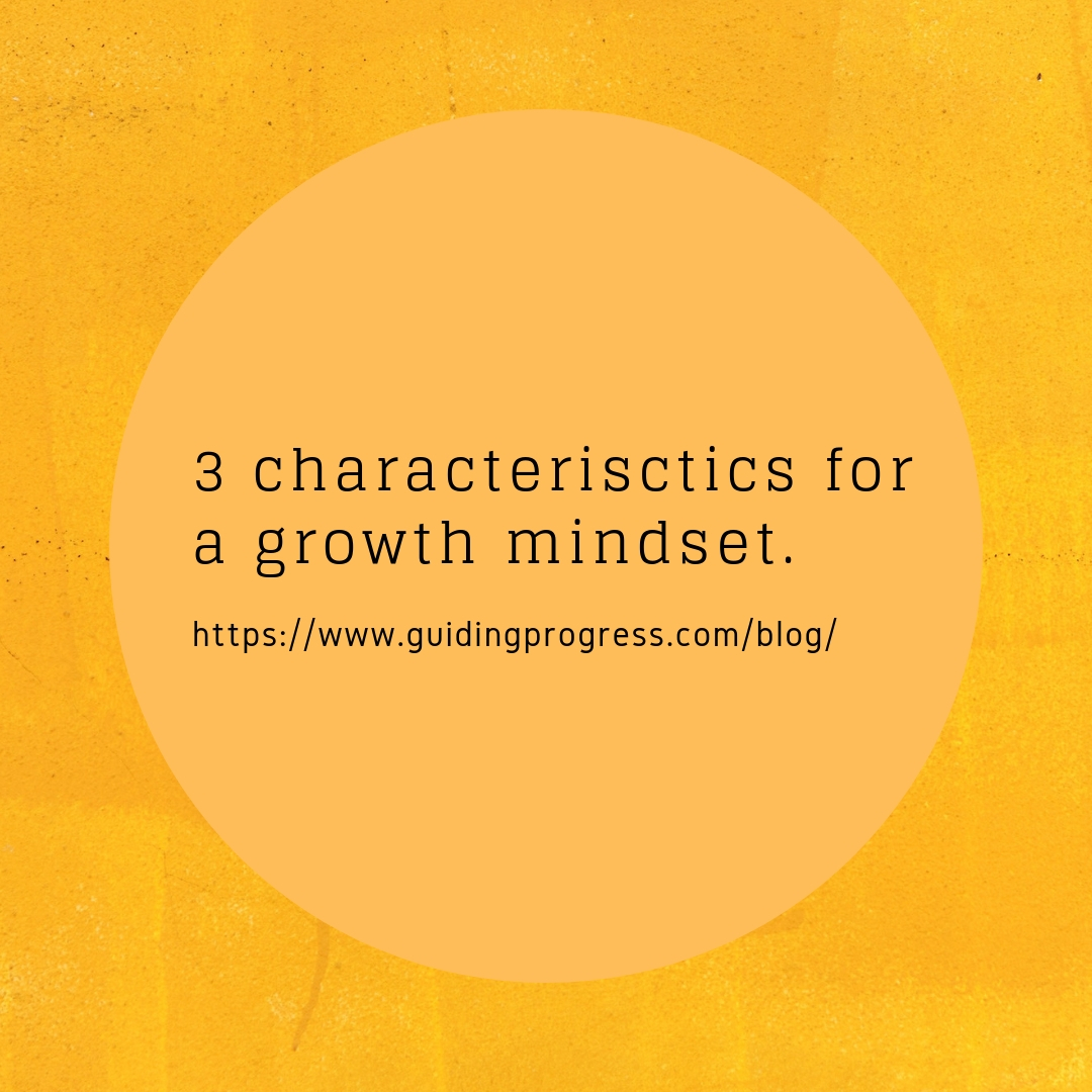 3 Characteristics for a growth mindset.