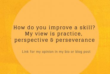 How do you improve a skill?