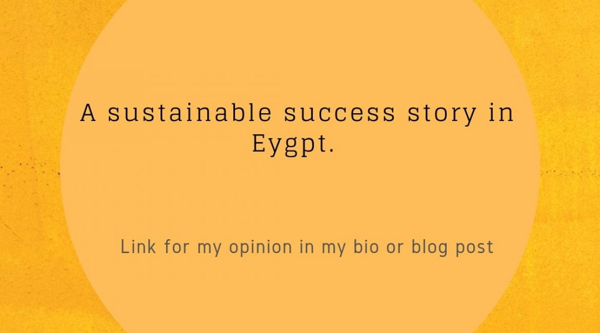 A sustainable success story in Egypt