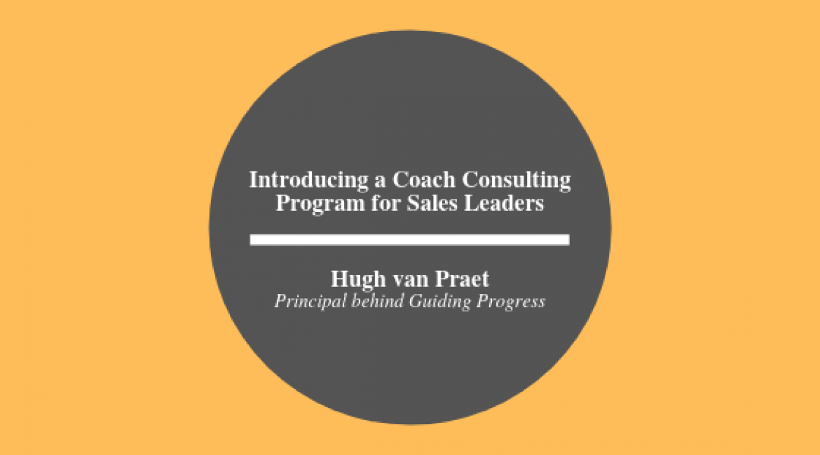 A Coach Consulting Program for Sales Leaders
